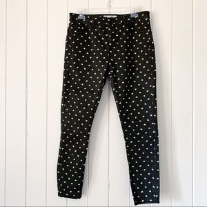 Topshop Moto Leigh Daisy Print Skinny Jeans